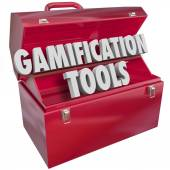 Gamification Tools 3d Words Toolbox Tools Resources — Stock Photo