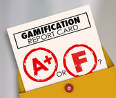 Gamification Report Card — Foto Stock