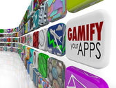 Gamify Your Apps Software Gamification Engage Retain Customers — Stock Photo