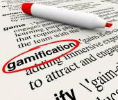 Gamification Word Circled Dictionary Definition — Stock Photo