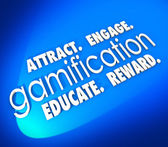 Gamification Attract Engage Educate Retain Customers — Stock Photo