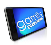 Gamify Everything Smart Phone Gaming Experience — Stock Photo