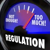 Too Much or Not Enough Regulation Gauge Measuring Rules Level — Stock Photo