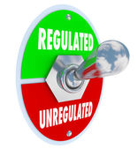 Regulated Vs Unregulated Switch Approving Laws Rules Guidelines — Stock Photo