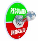 Regulated Vs Unregulated Switch Approving Laws Rules Guidelines — Stockfoto