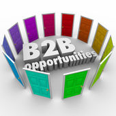 B2B Opportunities Word Doors New Business Paths Careers Jobs — Stock Photo