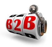 B2B Slot Machine Wheels Dials Business Sales Model — Stock Photo