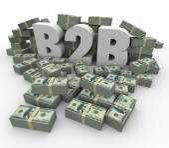 B2B Money Stacks Cash Piles Earnings Profits Business Sales — Foto de Stock