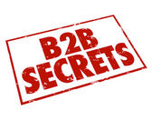 B2B Secrets Red Ink Stamp Information — Stock Photo