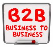 B2B Business to Business Words — Stock Photo