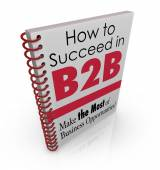 How to Succeed in B2B Business Advice Information Book — Stock Photo
