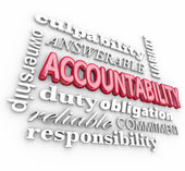 Accountability 3d word background — Stock Photo