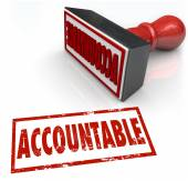 Accountable Stamp in red ink — Stock Photo