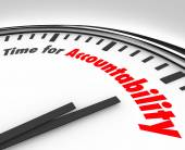 Time for Accountability Words Clock Take Responsibility — Stock Photo