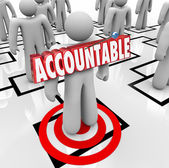 Accountable Word Targeted Person Pinning Blame on Worker Org Cha — ストック写真