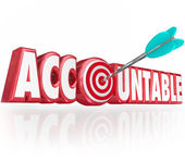 Accountable word in red 3d letters — Stock Photo