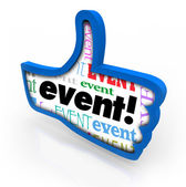 Event Thumbs Up Recommended Party Show Review Feedback — Stock Photo