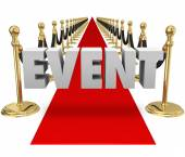 Event Word Red Carpet Exclusive VIP Event Runway — Stock Photo