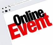 Online Event Website Words Internet Digital Meeting Show — Stockfoto