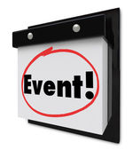 Event Word Circled Calendar Special Party Reminder — Stock fotografie