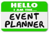 Hello I Am the Event Planner Nametag Sticker — Stock Photo