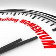 Building Momentum Clock Time Words Moving Forward — Stock Photo #55025371