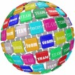 Global Team Word Tiles International Business Group Reach Workin — Stock Photo #55026235