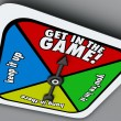 Get In The Game Spinner Compete Win Competition Take Chance — Stock Photo #55027537