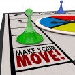 Make Your Move Board Game Piece Action Forward Turn — Stock Photo #55027577
