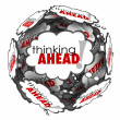 Thinking Ahead Words Thought Clouds Planning Anticipation Proact — 图库照片 #55027667