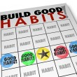 Build Good Habits Bingo Card Develop Strong Skills Growth — Stock Photo #55028047
