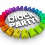 Block Party Houses Neighborhood Community Celebration Event — Stock Photo #55028483