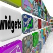 Widgets Applications Apps Software Programs Tile Icons — Stock Photo #55029633
