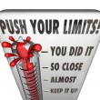 Push Your Limits Try Effort Thermometer You Did It — Stock Photo #55029811