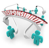 Responsibility Passing Job Task Other People Delegate Work — Foto de Stock