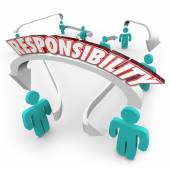 Responsibility Passing Job Task Other People Delegate Work — Stock Photo