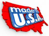 Made in USA America Production Manufacturing Goods Products — Stock Photo