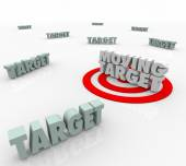 Moving Target Changing Plan Strategy Find Elusive Location — Stock Photo