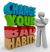 Change Your Bad Habits Thinker Adapting Good Qualities Success — Stock Photo