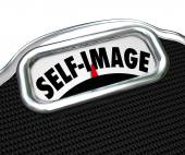 Scale Display Self Image Conscious Lose Weight — Stock Photo