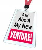 Ask About My New Venture Business Startup Enterprise — Stock Photo