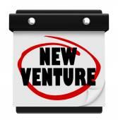 New Venture Wall Calendar Launch Reminder Business Startup — Stock Photo