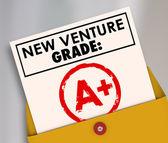 New Venture Grade Report Card A Plus Great Grade Score — Foto Stock