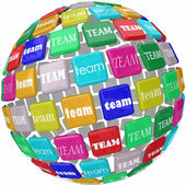 Global Team Word Tiles International Business Group Reach Workin — Stock Photo
