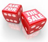 Ask for the Sale Bet Take Chance Selling Customers Rule — Foto de Stock