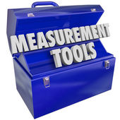 Measurement Tools Gauge Performance Level 3d Words Toolbox — Stockfoto