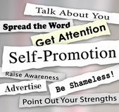Self-Promotion Headlines Marketing Publicity Attention — Stock Photo
