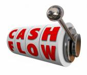 Cash Flow Slot Machine Wheels Increase Income Revenue Money — 图库照片
