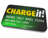 Charge It Plastic Credit Card Shopping Borrow Money Pay Later — Foto Stock