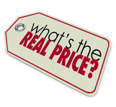 Whats the Real Price Tag Cost Expense Investment  — Stock Photo
